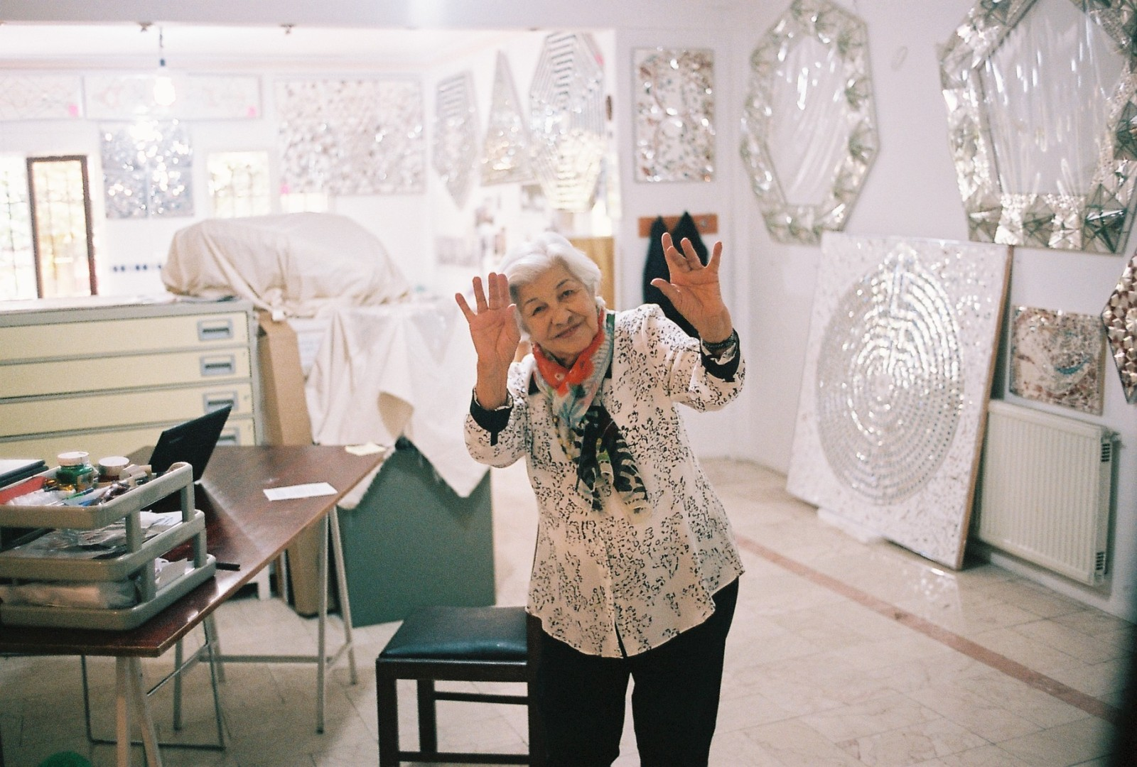 Monir Shahroudy Farmanfarmaian from Tehran
