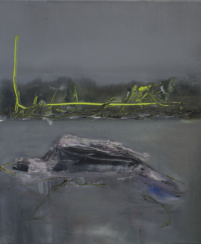 Surface (2014). Oil on canvas. 50 x 60 cm.