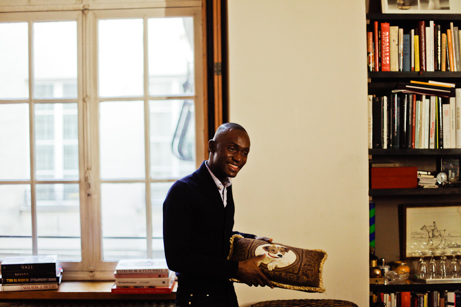 Freunde von Freunden — (English) Alpha Sidibe — Studio Manager at Louboutin, Apartment, Paris, Le Marais —