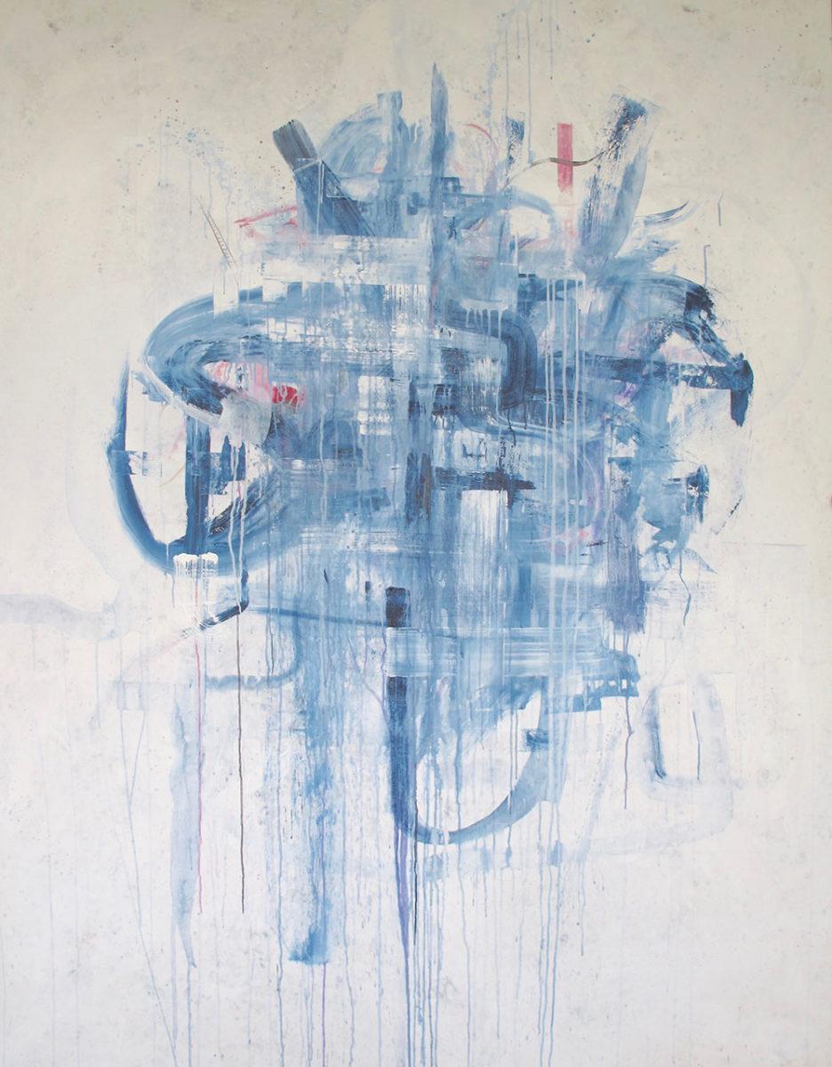 """flower works b"" 180 x 230cm, acrylic on canvas (2015)"