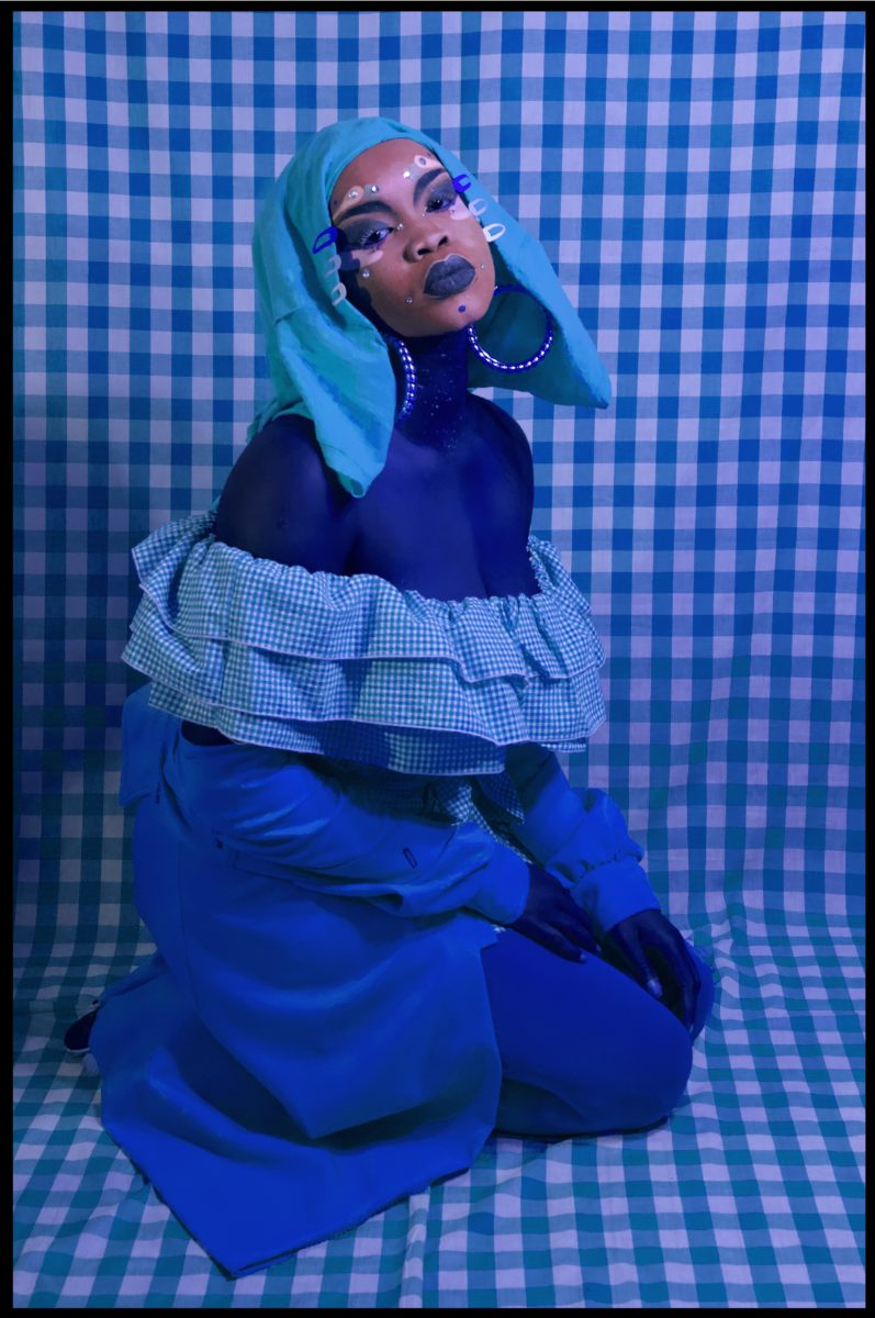 Atong Atem, Self Portrait in Gingham no.2, 2018