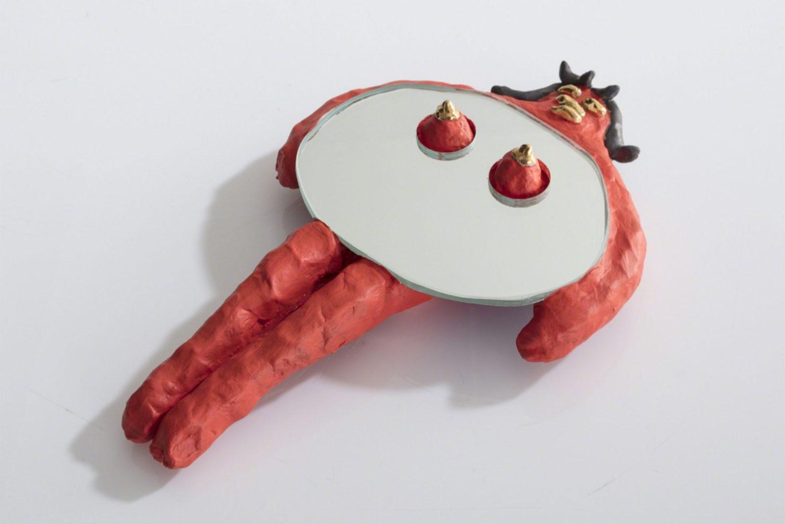 (EN) Unique Girl Hand Mirror, 2017 Ceramics, Mirror | R & Company, New York
