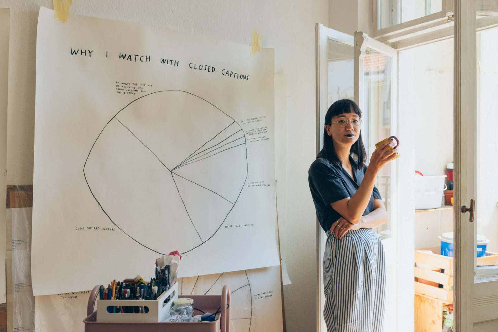 Expressing rage through angles and pie charts with Berlin-based artist  Christine Sun Kim — Friends of Friends / Freunde von FreundenFreunde von Freunden