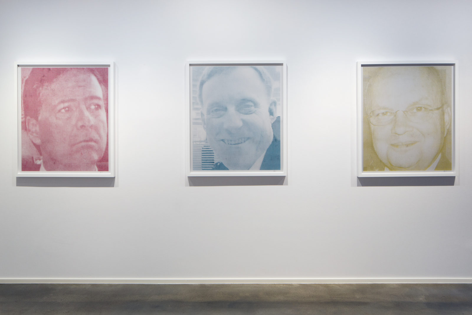 """Overexposed"" (2015) – Appropriated social media photos of U.S. intelligence officials posted to public walls"