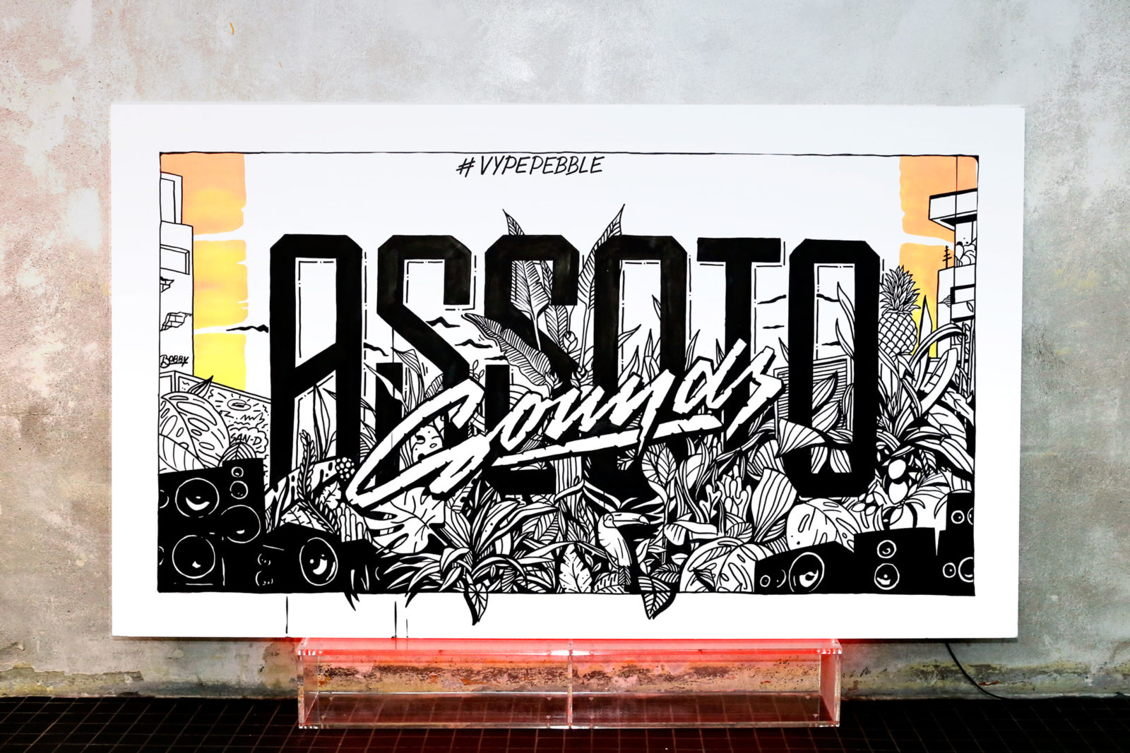 (EN) Canvas Assoto Sounds, 2016: Live painting during one of the legendary Hip Hop parties at Hamburg's Mojo Club