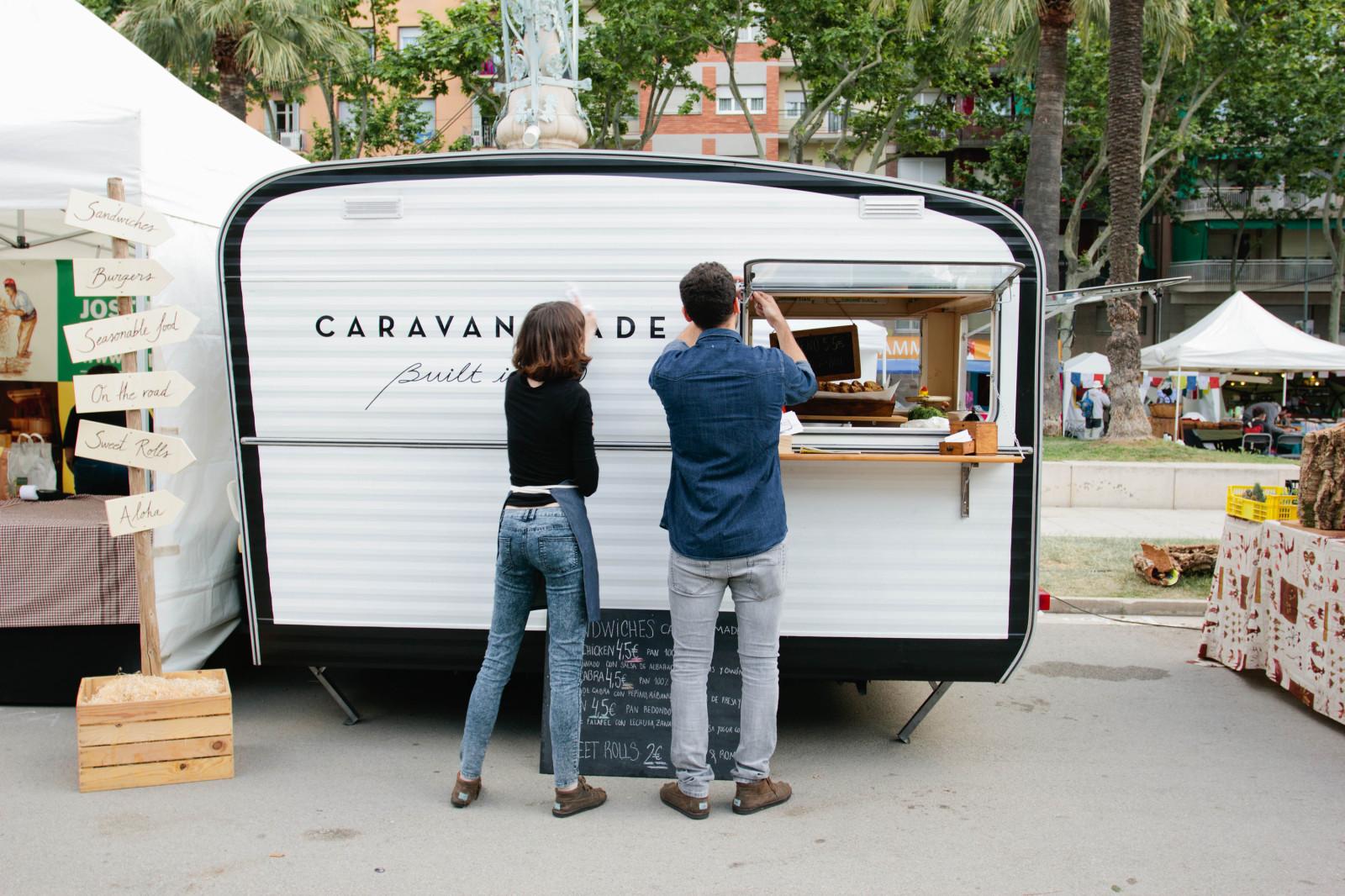 Caravan Made An Alfresco Food Truck In Barcelona