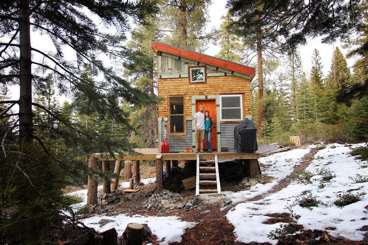 Micro, DIY, and sustainable. Tim and Hannah's cabin in Lake Tahoe is a physical manifestation of concepts that ruled 2014.
