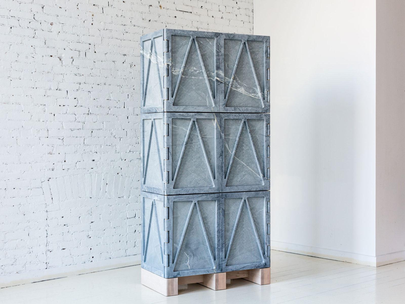 Relief Stone Cabinet - Photo: Brian Ferry