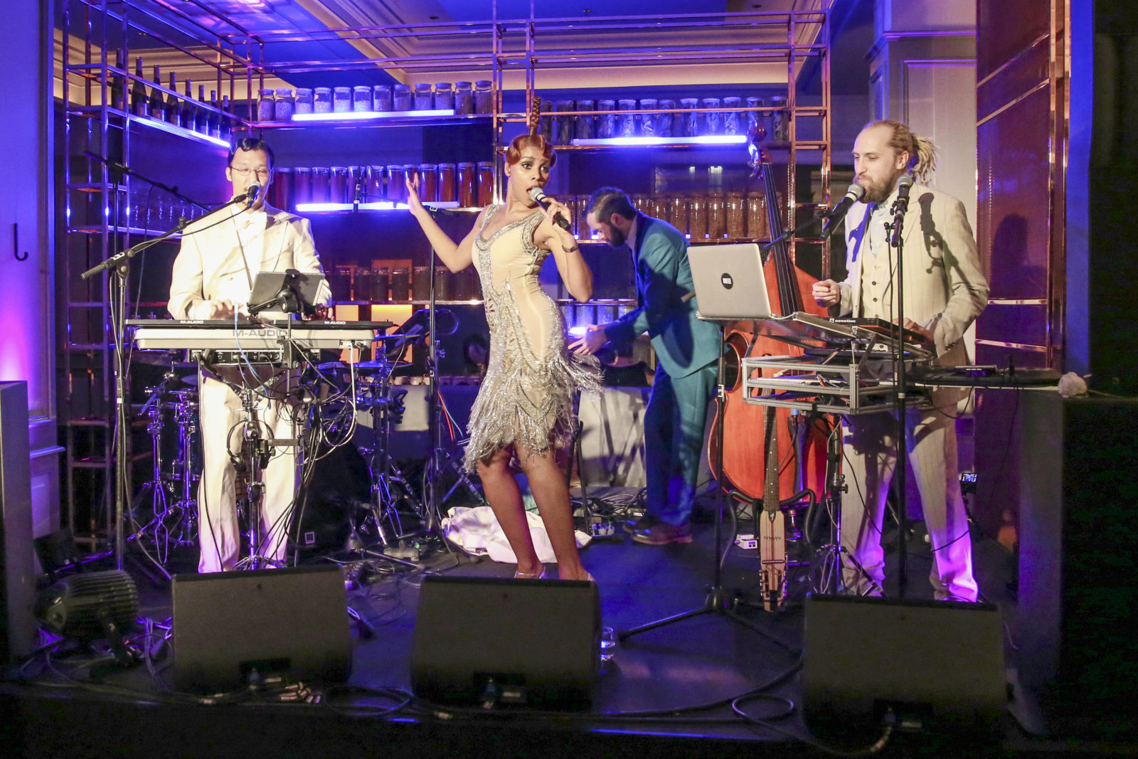 BERLIN, GERMANY - MARCH 05: Alice Francis performs during the Ritz Carlton Berlin Re-Opening Party at Ritz Carlton on March 5, 2019 in Berlin, Germany. (Photo by Isa Foltin/Getty Images for Ritz Carlton)