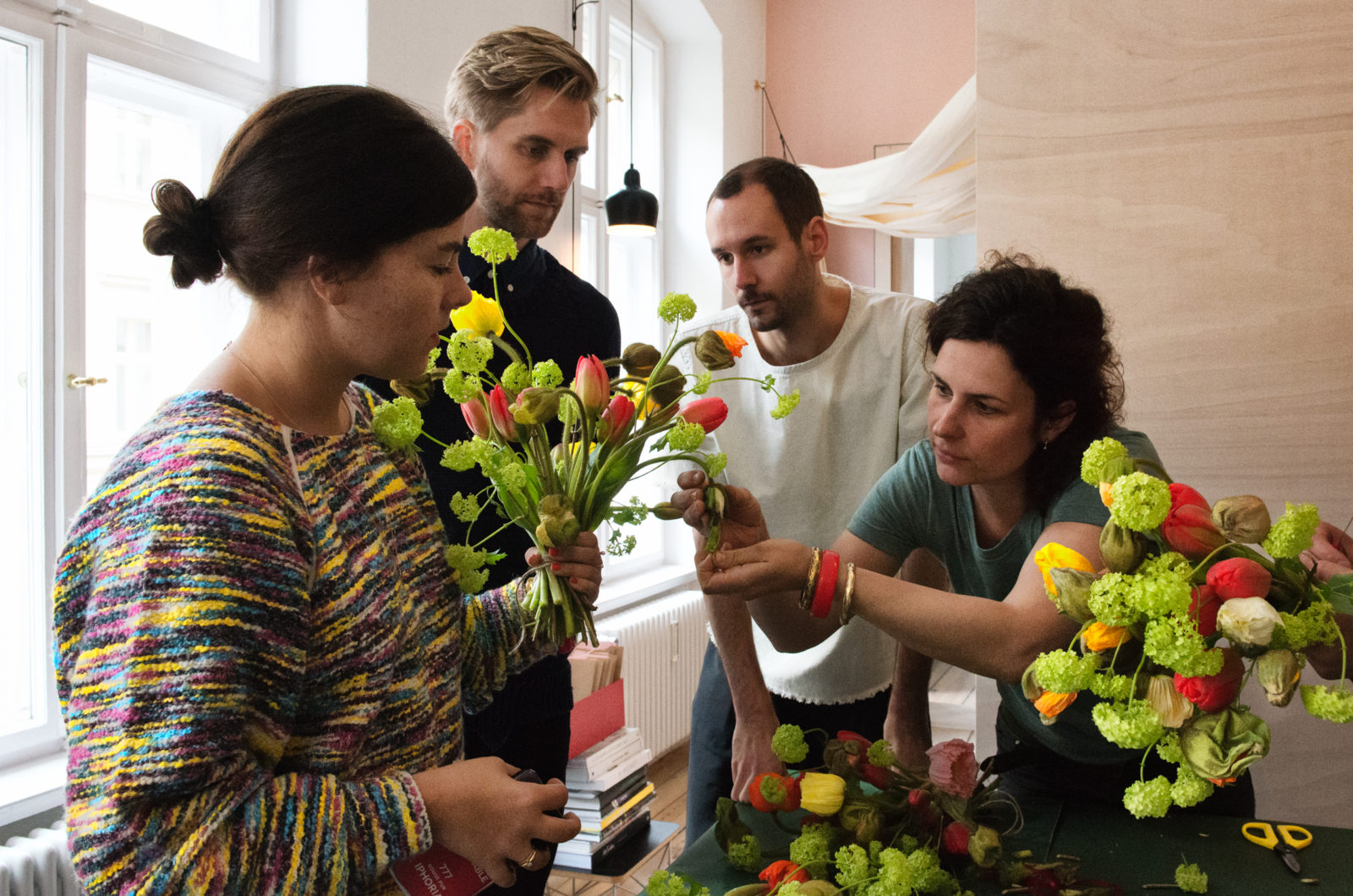 Marsano flower workshop at the FvF Apartment
