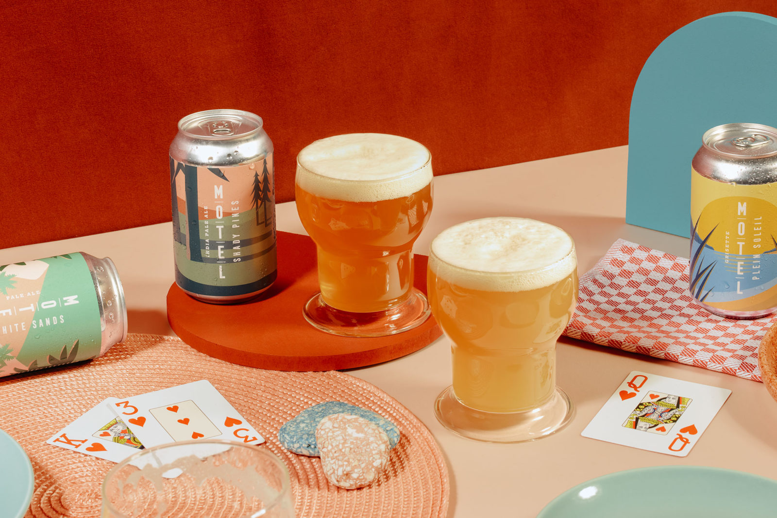 Art direction and prop styling for Motel Beer, a brand that Ruth describes as one with a vintage charm and a fresh modern feel, 2018.