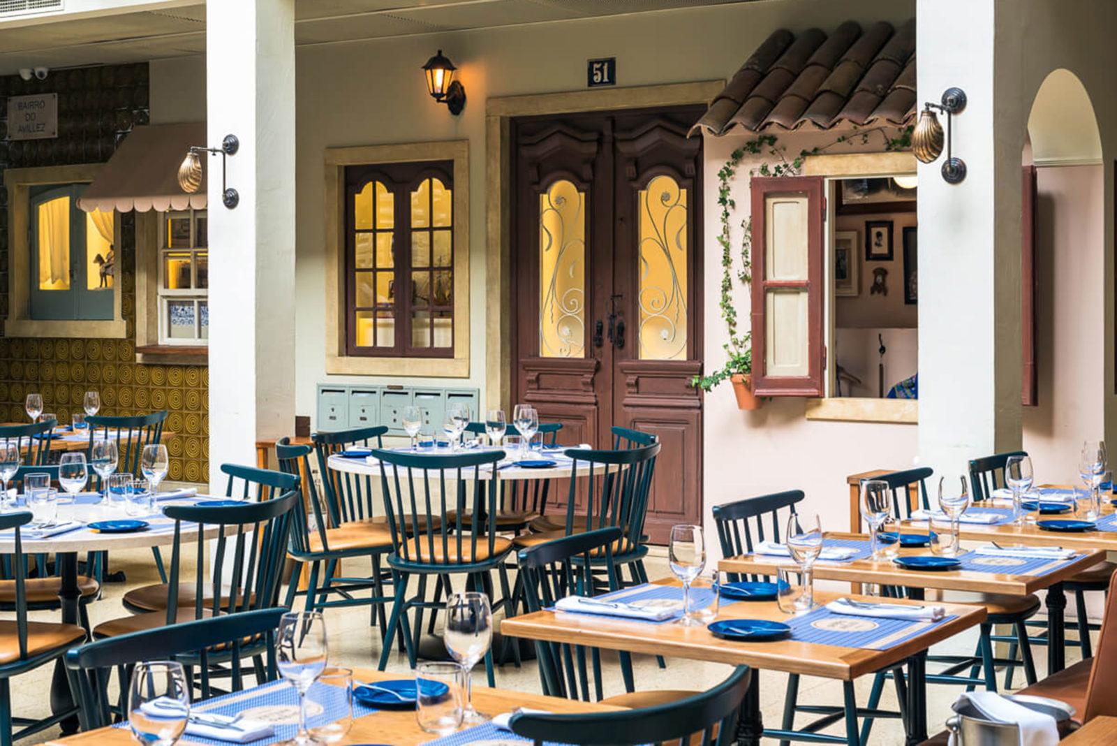 Bairro do Avillez restaurant featuring Joana's Walls have Ears installation.