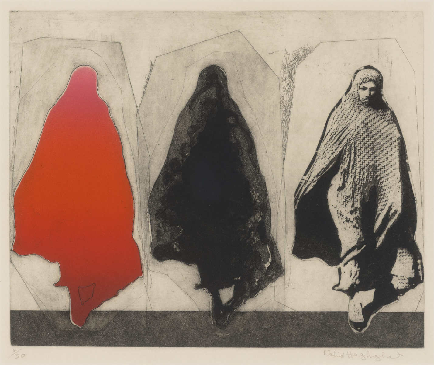 'Woman wearing a chador' by Nahid Haghighat.