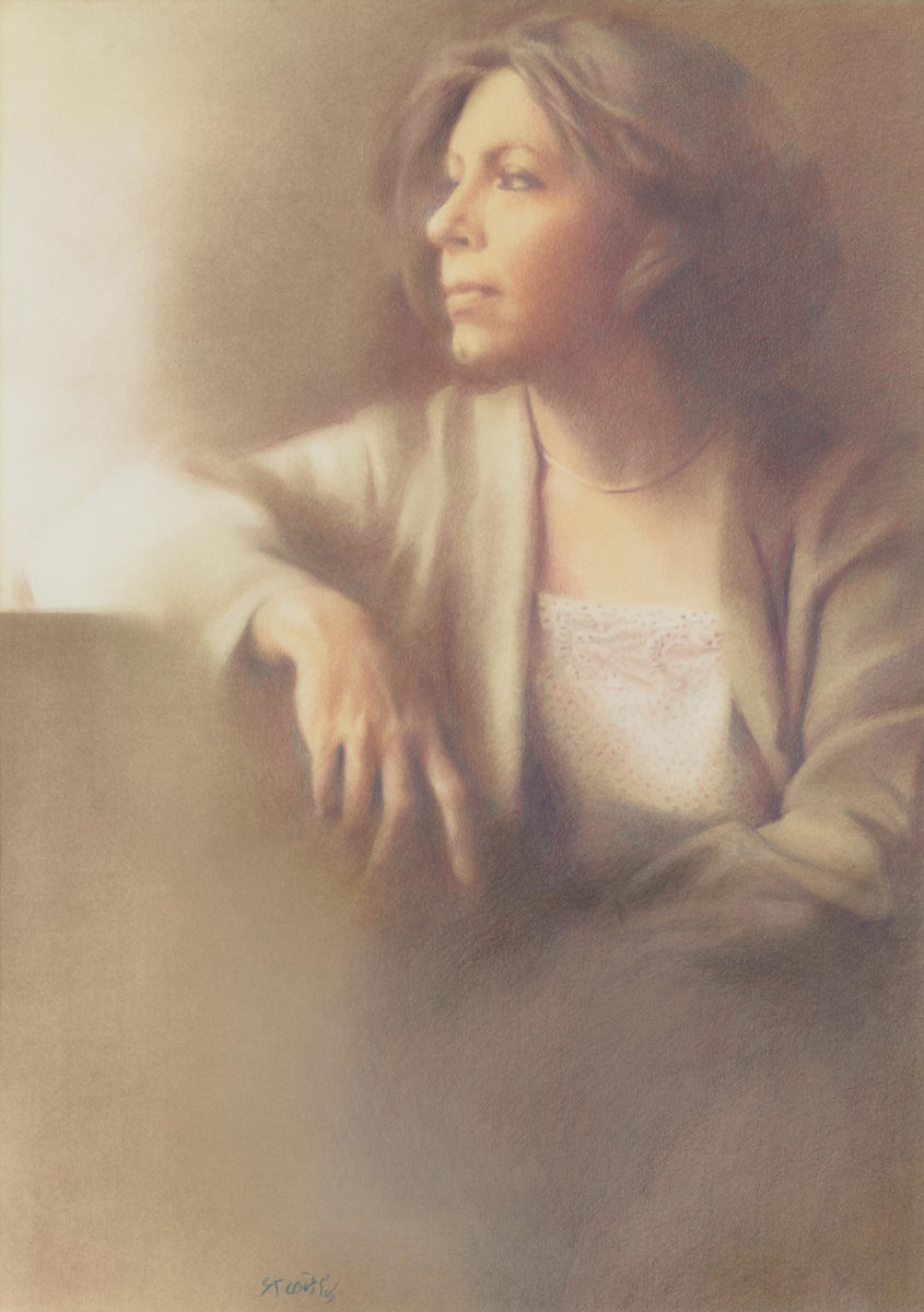 Portrait of Lili Golestan by Parvaneh Etemadi.