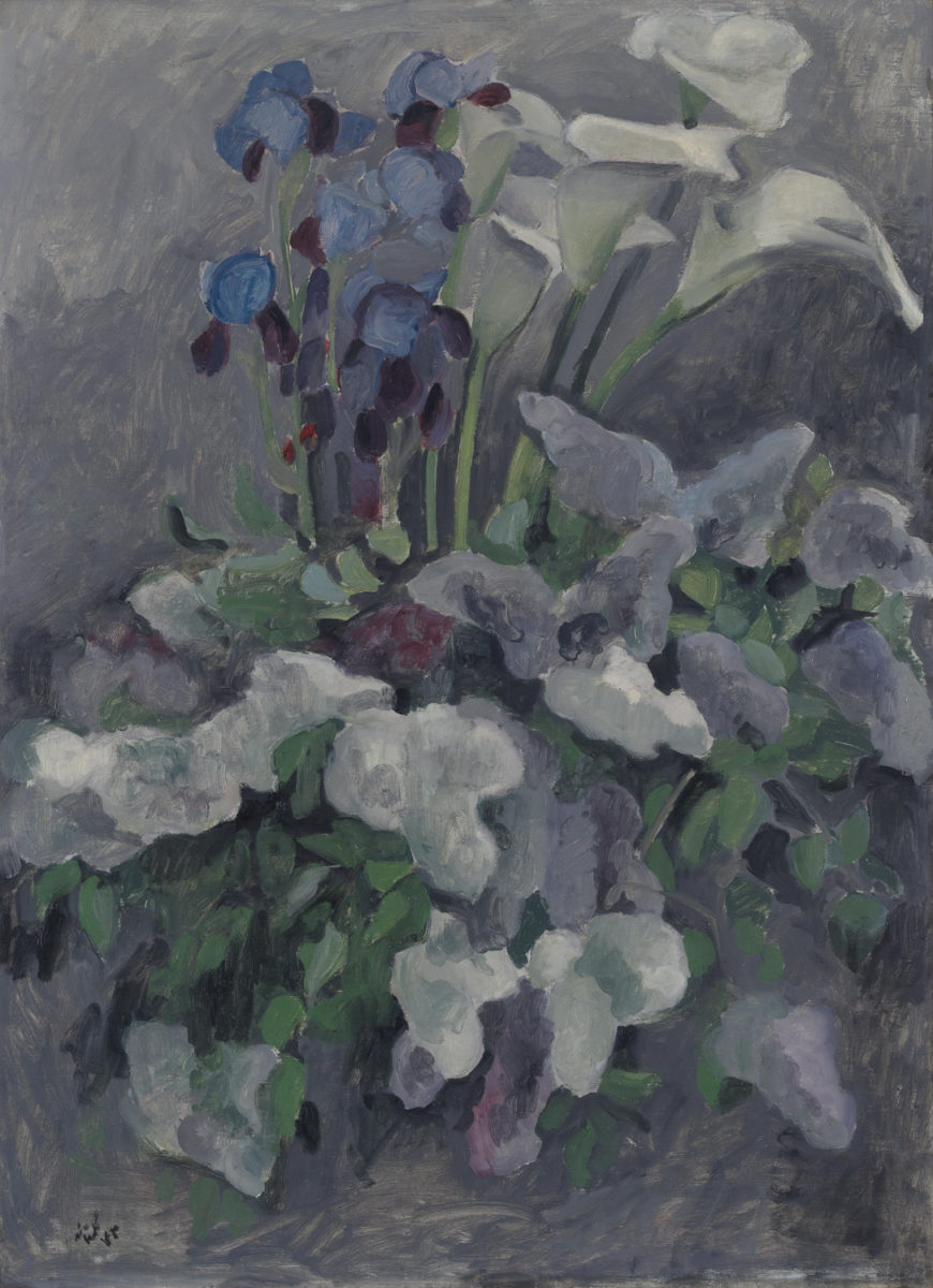 'Calla lilies and irises' by Ali Golestaneh.