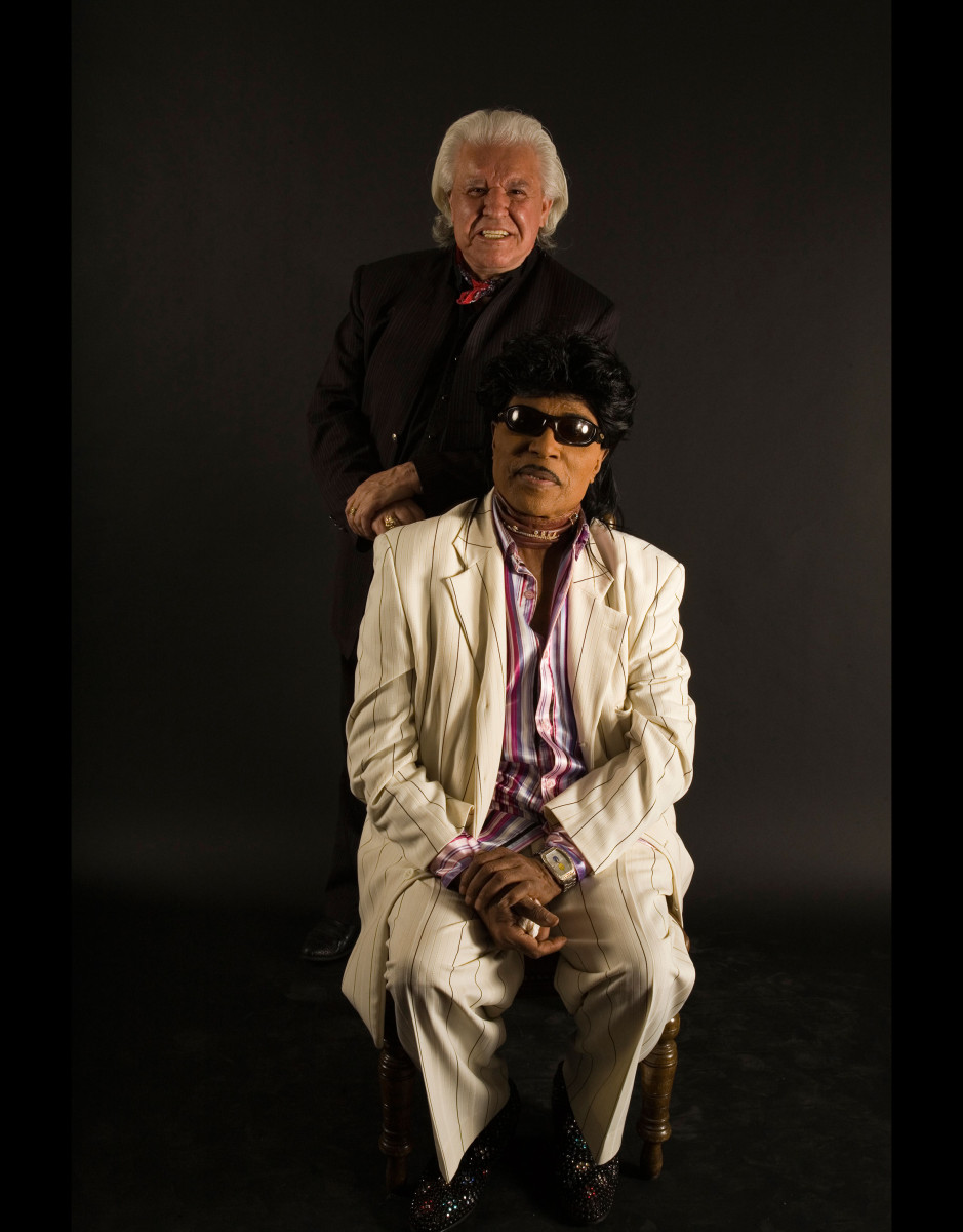 Manuel and the original howling rock n roller, Little Richard.