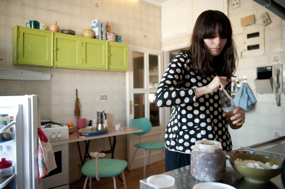 Freunde von Freunden — Maya Mounme & Hatem Imam — Graphic Designer & Furniture Restaurators, Apartment & Studio, Malla, Beirut — http://www.freundevonfreunden.com/interviews/maya-mounme-hatem-imam/