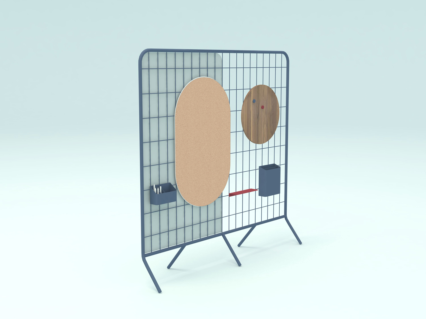 'Net' is a modular partitioning system with sound absorbing properties