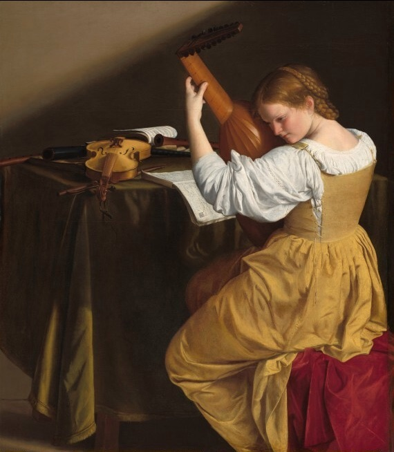 The Lute Player, by Orazio Gentileschi, in the collection of the National Gallery of Art, Washington, D.C., was painted in the early 17th century using lead-tin-antimony yellow. The pigment was lost and rediscovered in 1998. Photo: National Gallery of Art.