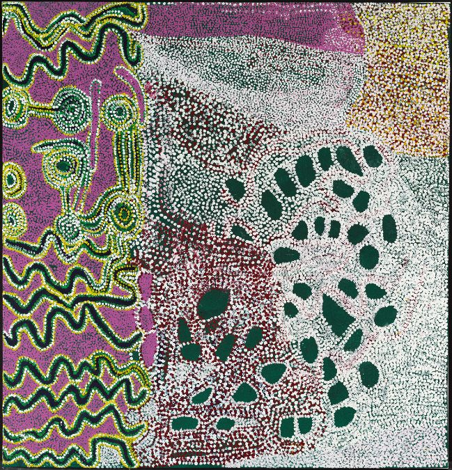 Tommy Watson, Wipu Rockhole, 2004 from the exhibition, Everywhen: The Eternal Present in Indigenous Art from Australia