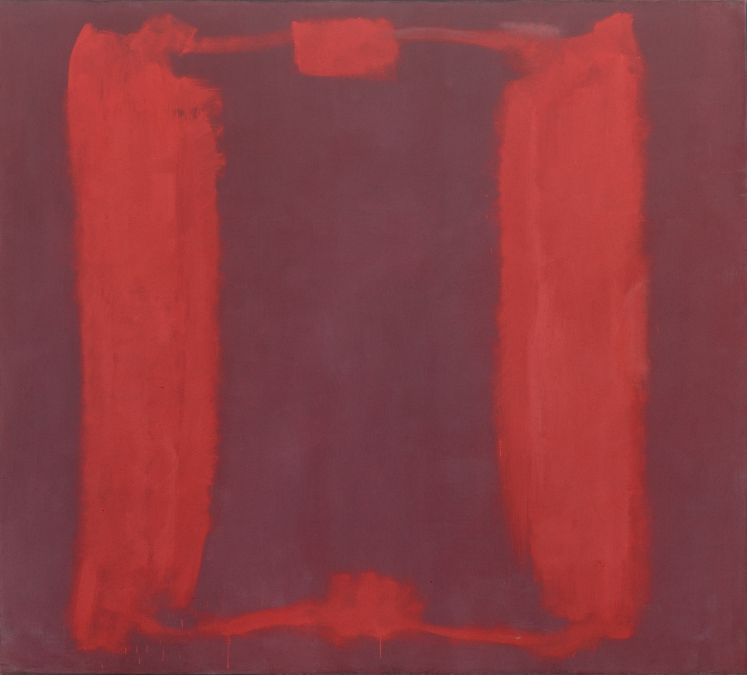 Digitally restored scan of a 1964 Ektachrome transparency of Panel One of Mark Rothko's Harvard Murals, painted in 1962. © 2014 Kate Rothko Prizel and Christopher Rothko/Artists Rights Society (ARS), New York. Photo: Harvard Art Museums, © President and Fellows of Harvard College