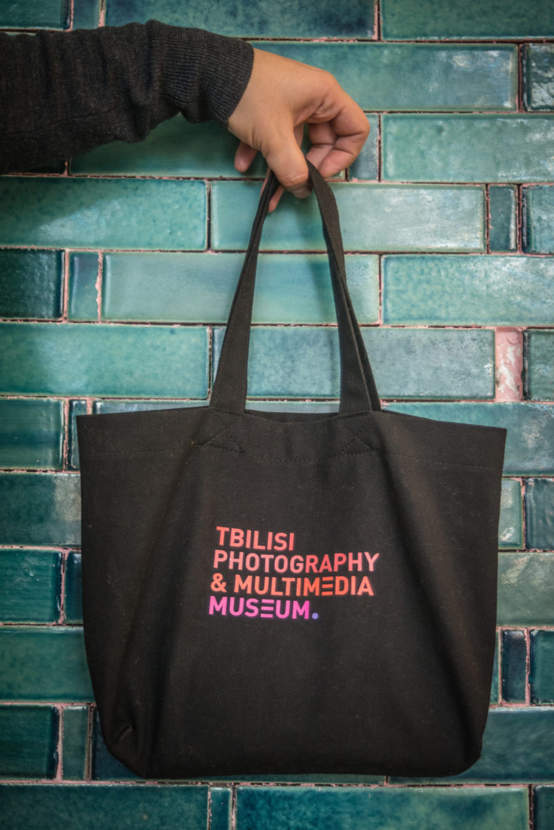 Tbilisi Photo Festival handbag styled after Japanese small hand bags.