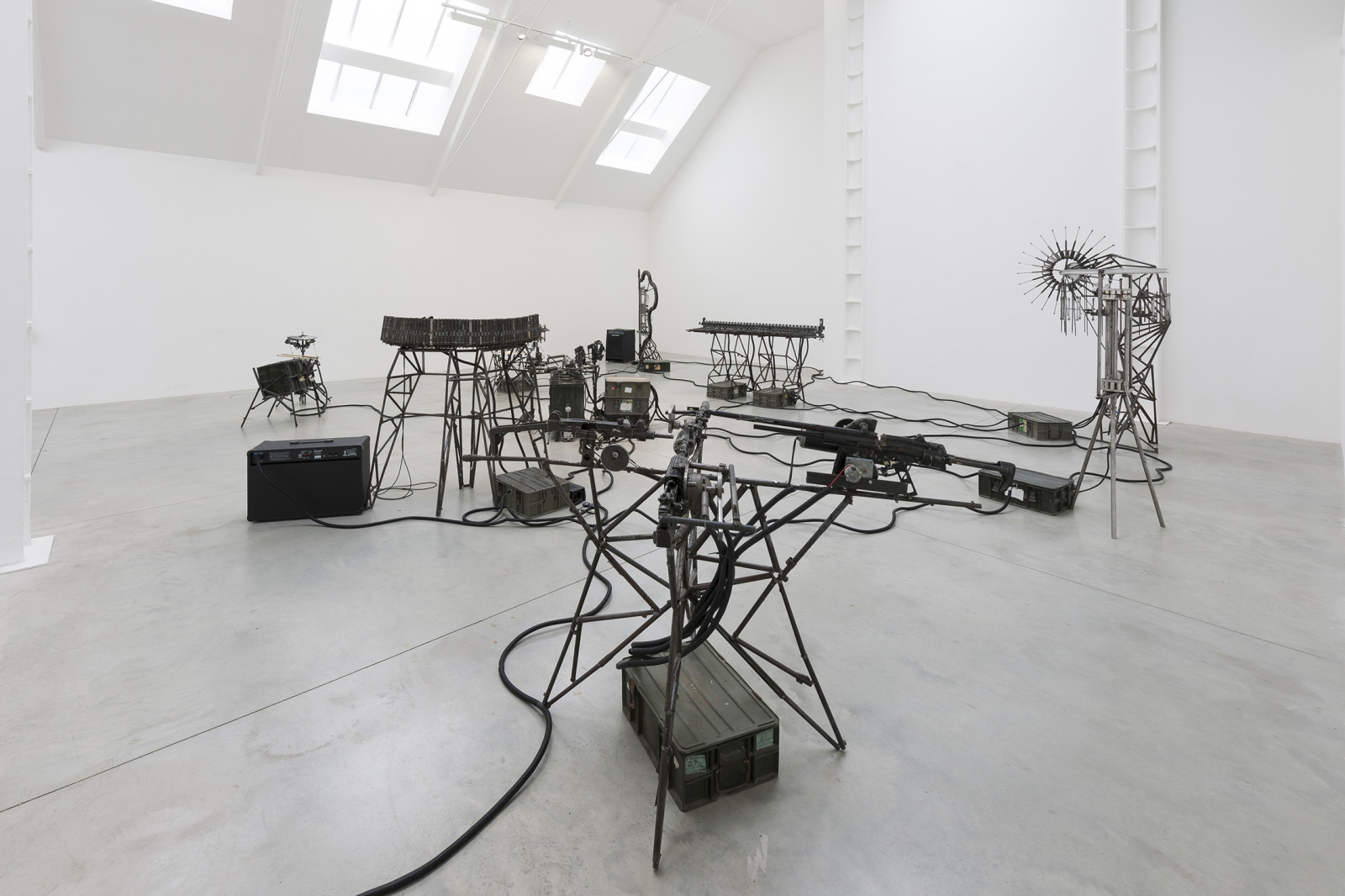 Disarm Mechanized, 2013. Installation view at Lisson Gallery. Courtesy of Lisson Gallery, 2013. Photo: Dave Morgan.