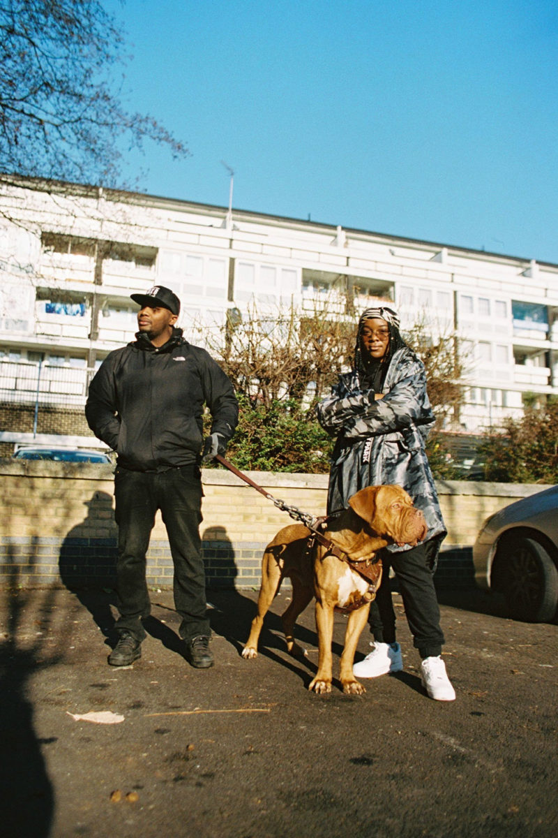 RAY BLK & Dog, Woolwich - January 2017