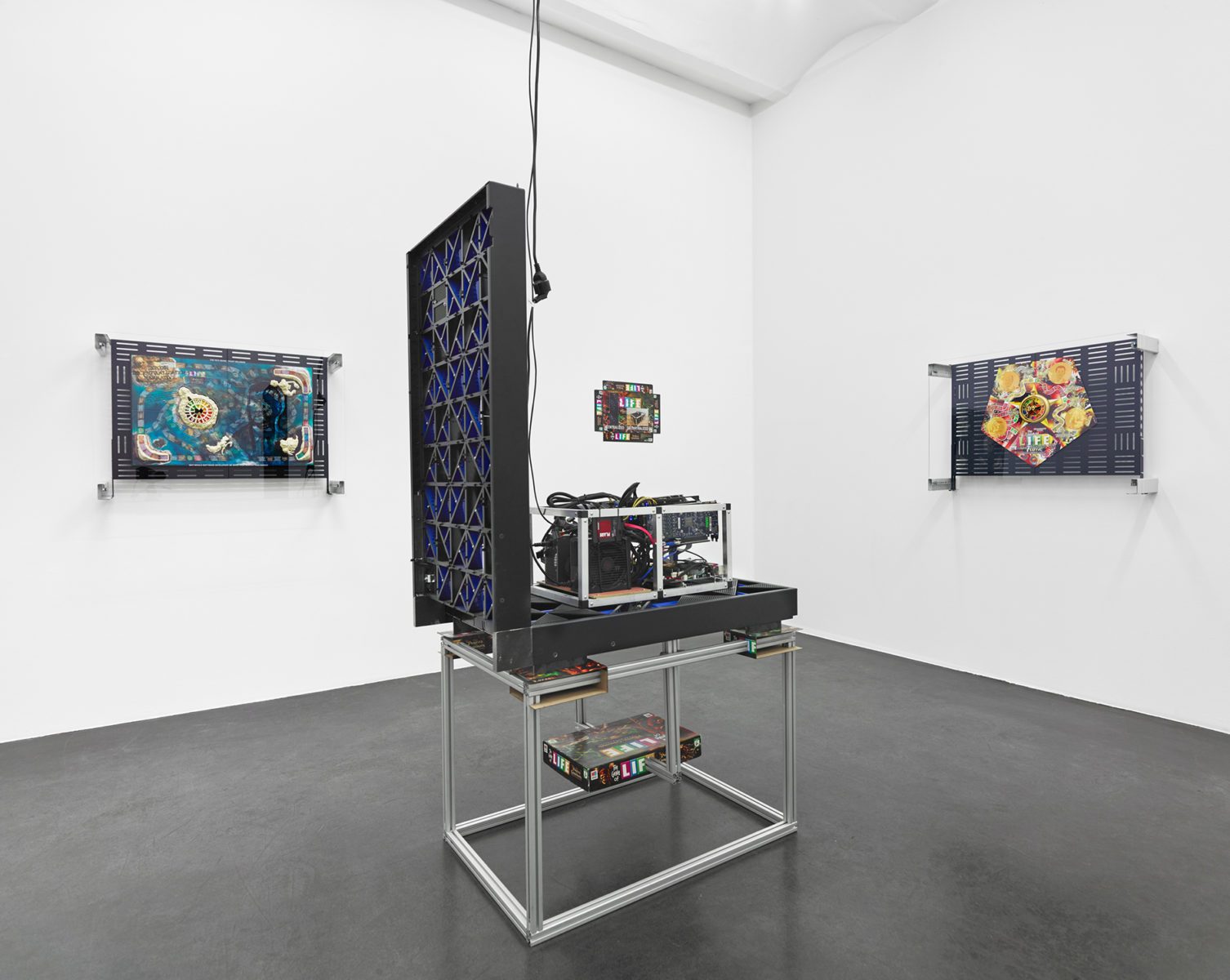 Installation view of Games of Decentralized Life at Buchholz, Cologne