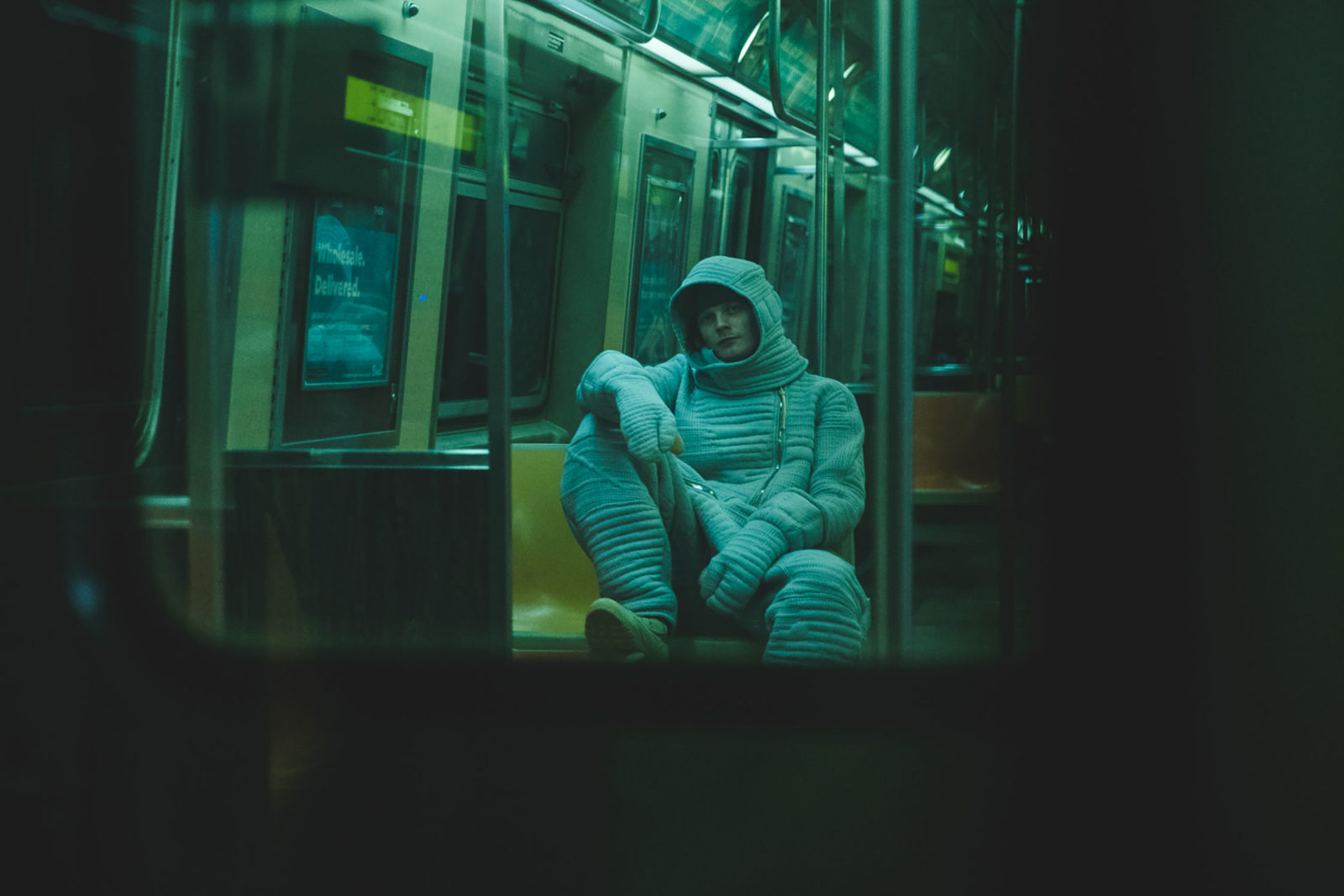 (EN) Wings + Horns X BYBORRE spacesuit in the NYC metro -