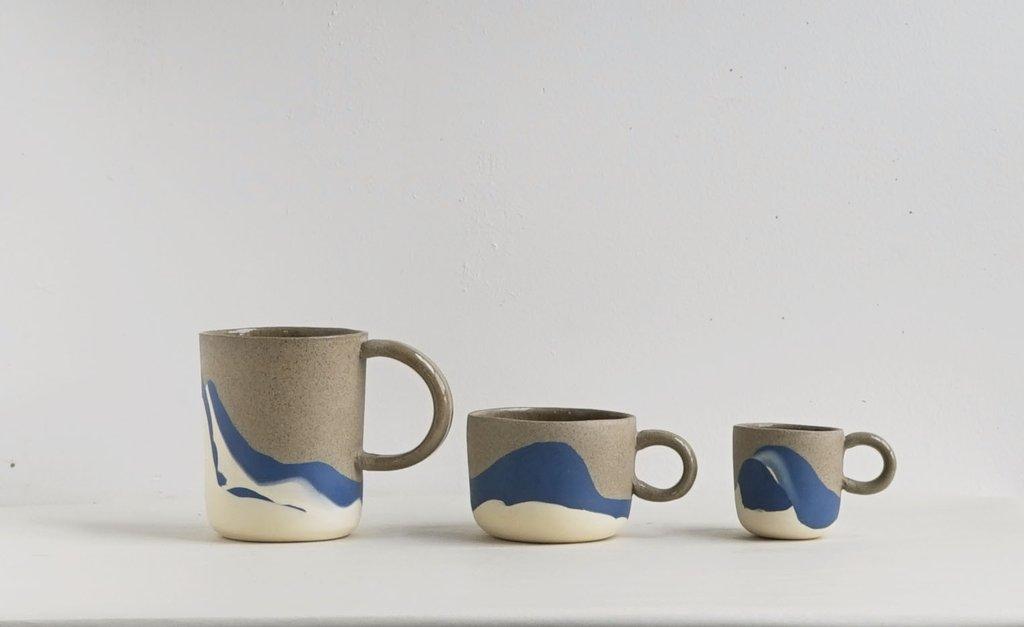 Beach Series:  Giant Mug, Traditional Mug and Espresso Mug