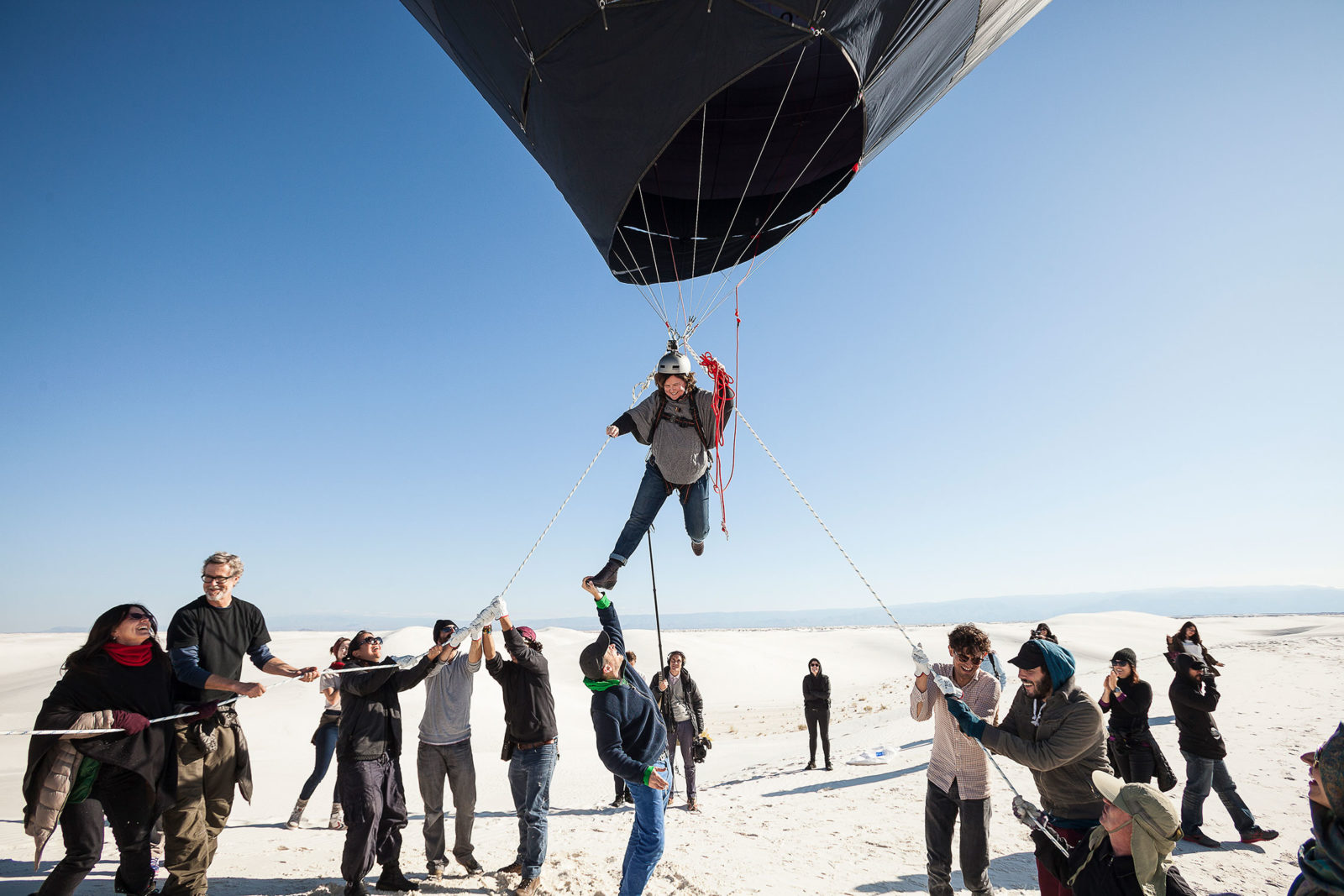 (EN) D-O AEC Aerocene, launch in White Sands, 2015, Photography: Studio Tomás Saraceno