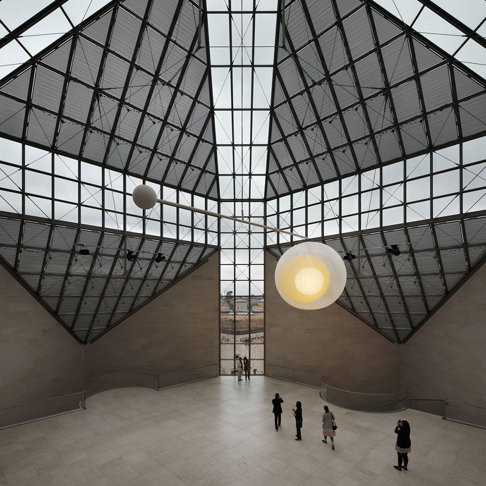 Permanent 'Mobile Light' in the main hall of the MUDAM (contemporary Art Museum in Luxembourg) - 2011