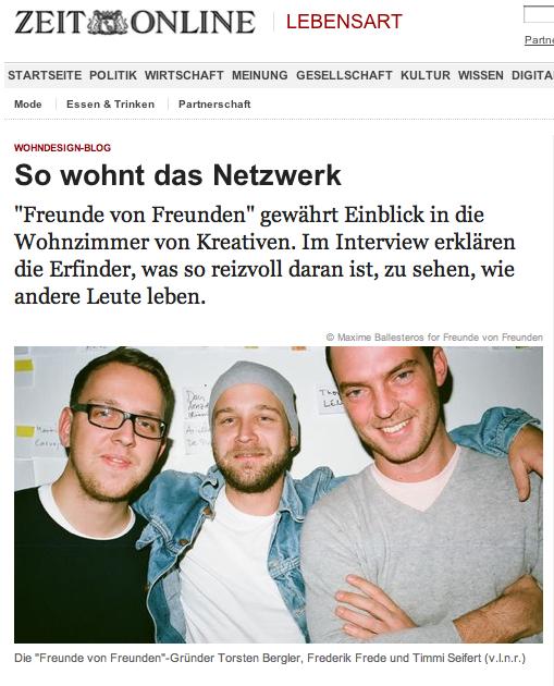 Zeit Online - FvF Collaboration — Friends of Friends